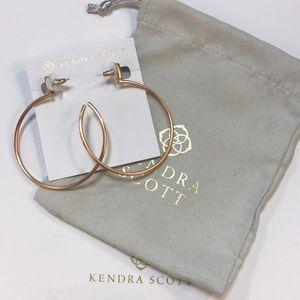 Kendra Scott pepper rose gold hoop earring brand n